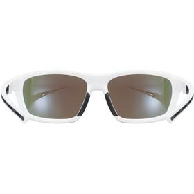 UVEX Sportstyle 229 Glasses white/mirror blue